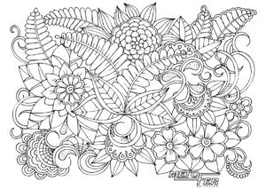 coloriage floral