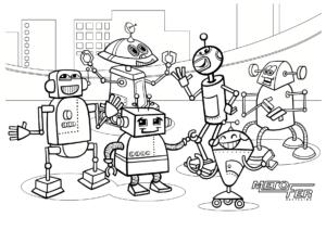 coloriage robots